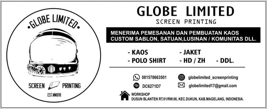 Image : Jasa Sablon Globe Limited Screenprinting Dusun Blanten